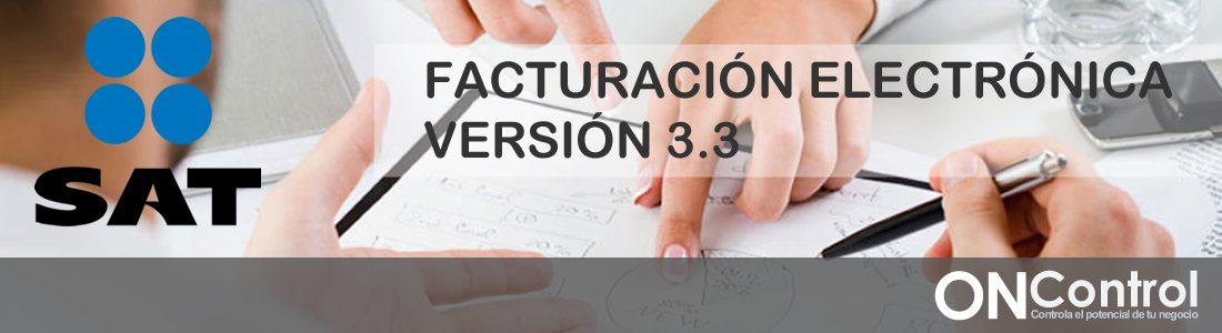 Actualizacion SAT CFDI 3.3 ONControl